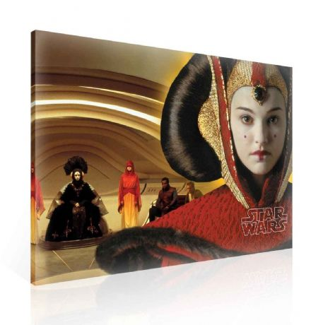 XXL Star Wars Padmé Amidala Queen Canvas 100x75cm